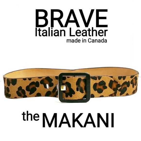 Brave Accessories - Brave Italian Leather Calf Hair Leopard Print Belt